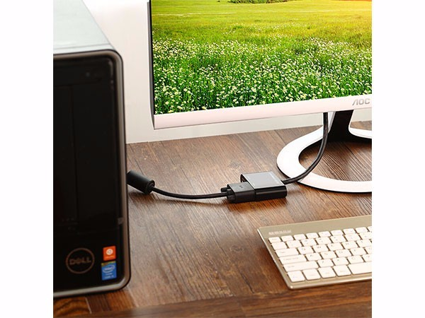 绿联10439 Mini DP(雷电)转VGA/HDMI双接口