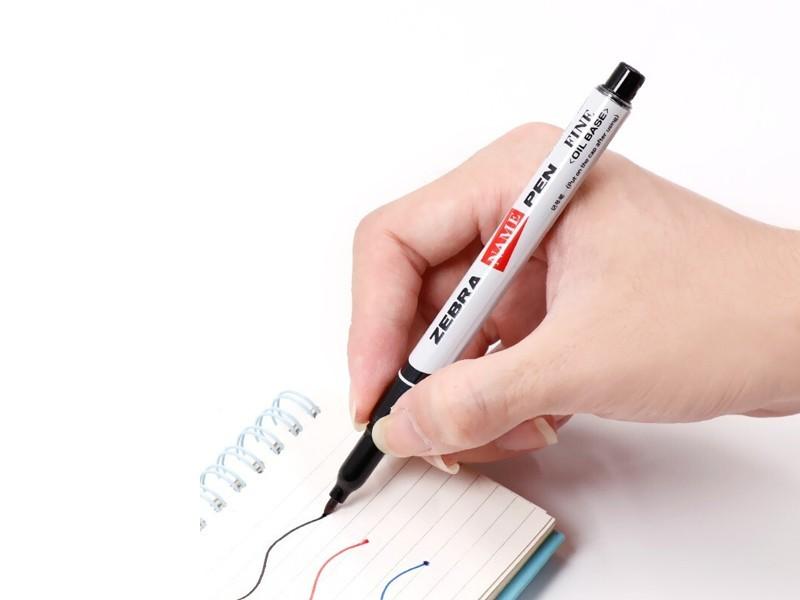 斑马NAME PEN油性小单头记号笔MO-12A1-SNZ(红色)