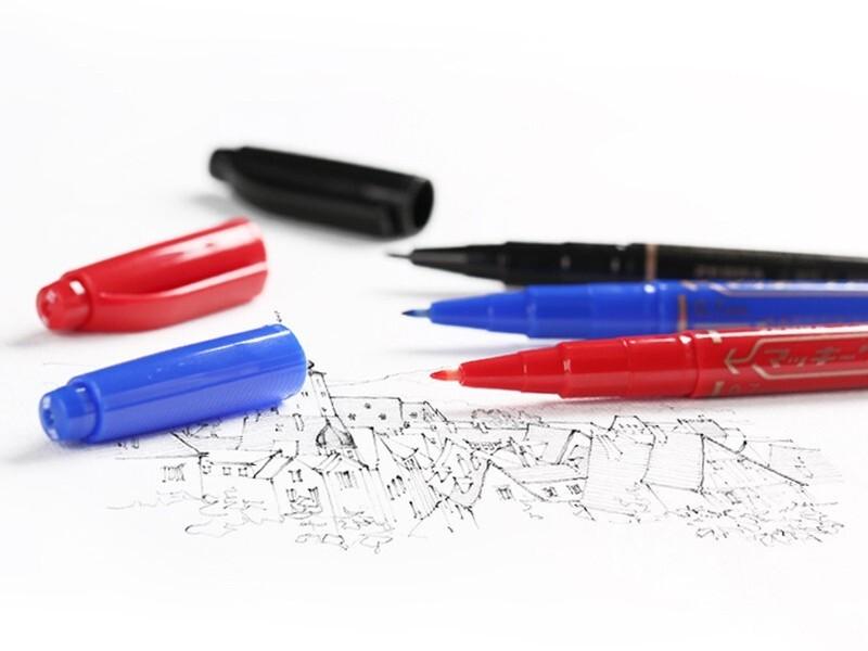 斑马超级细油性小双头记号笔YYTH3-BL(蓝色)