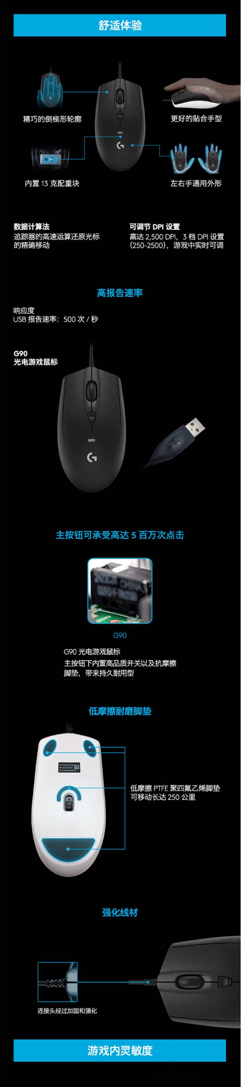 G90光电游戏鼠标