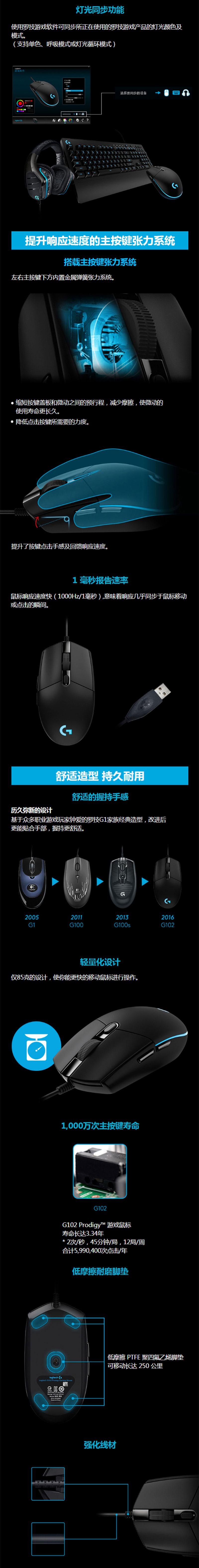 G102 Prodigy游戏鼠标