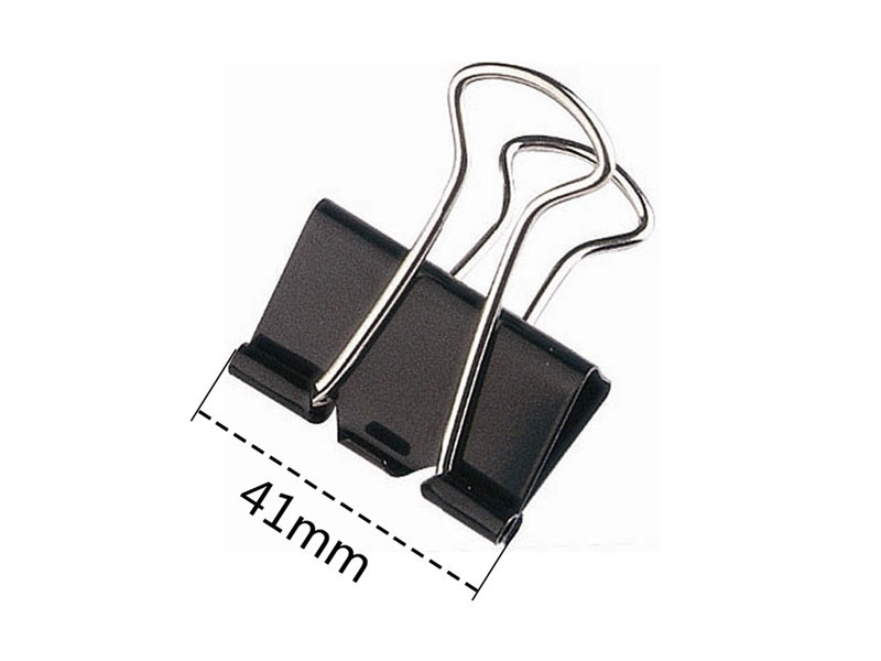 85041赞扬长尾夹 黑色(12个/盒)