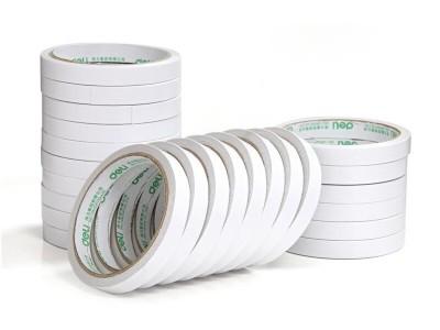 得力30401棉纸双面胶带12mm10y80um(白)