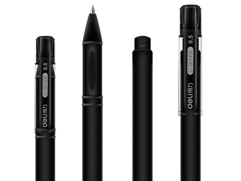 得力DL-S65 0.5mm中性签字笔 黑色
