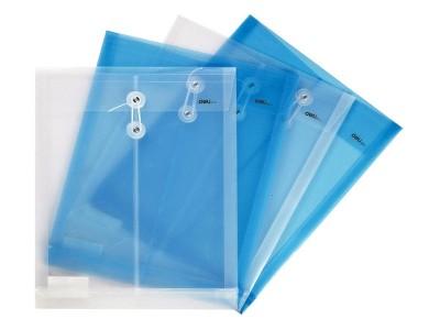 5511得力透明档案袋(蓝)