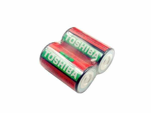 东芝1号电池R20大号D型碳性1.5V塑封装4节大电池套装不可充电