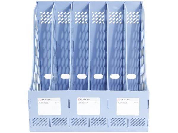 齐心B2176六联文件栏 蓝色
