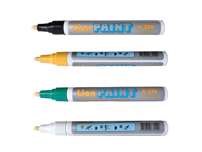 狮牌H-320  耐高温记号笔(白色)
