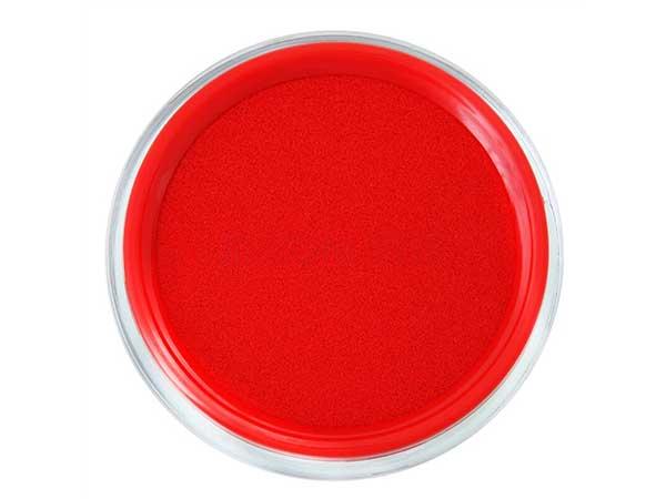 得力(deli) 红色9863 φ80mm圆形快干印台印泥