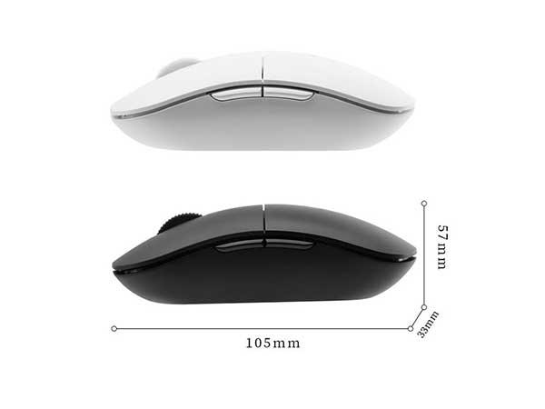 得力(deli) 黑色2214 无线静音光学鼠标 四档DPI调节办公游戏鼠标