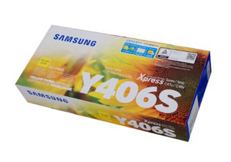 2三星 CLT-Y406S 黄色墨粉盒 (适用型号:CLP-366/366w CLX-3306 3306W 3306FN)