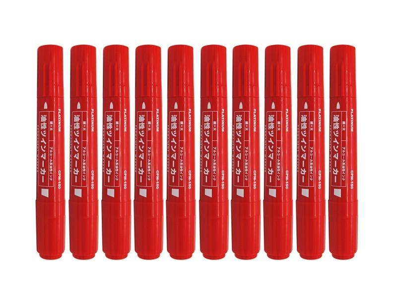 CPM-150 白金大双头记号笔 红色