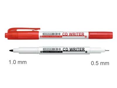 雄狮CD30  双头光盘万用笔(红)