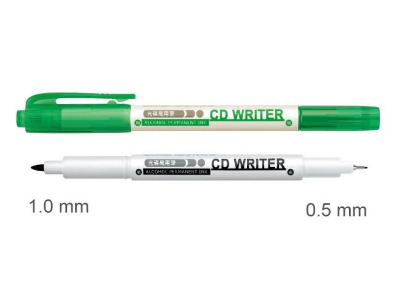 雄狮CD30  双头光盘万用笔(绿)