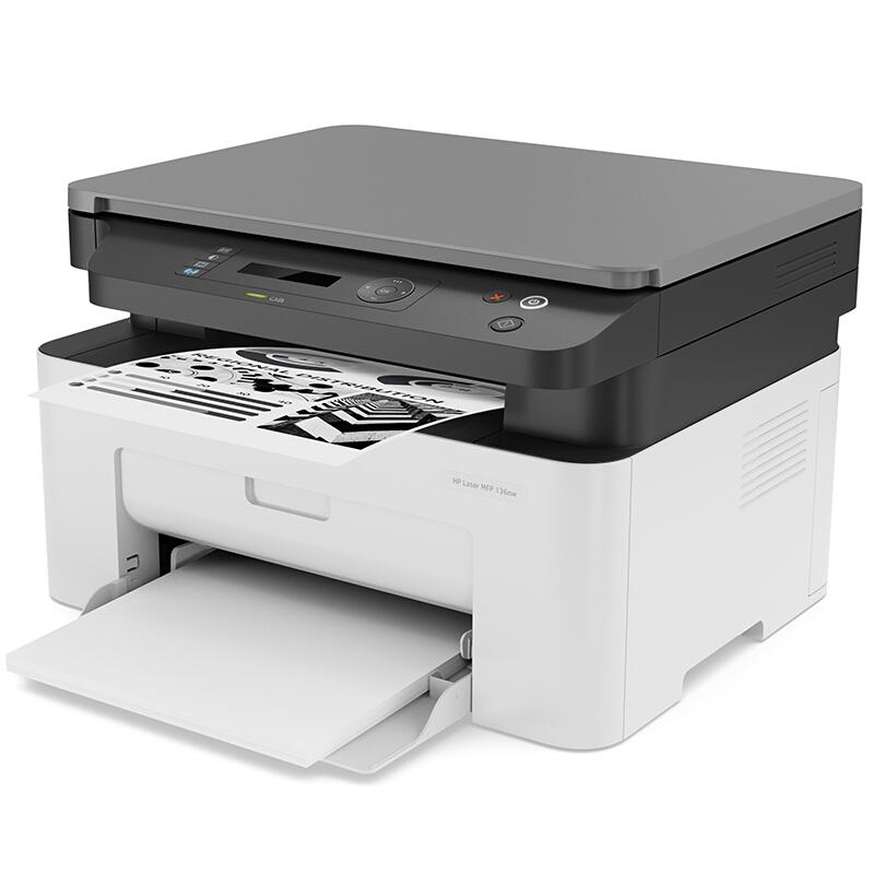 HP 136nw 黑白激光打印机