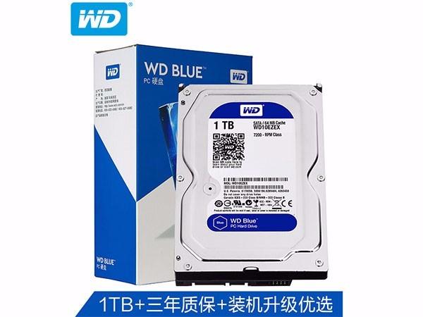 西数1TB台式机硬盘 WD10EZEX