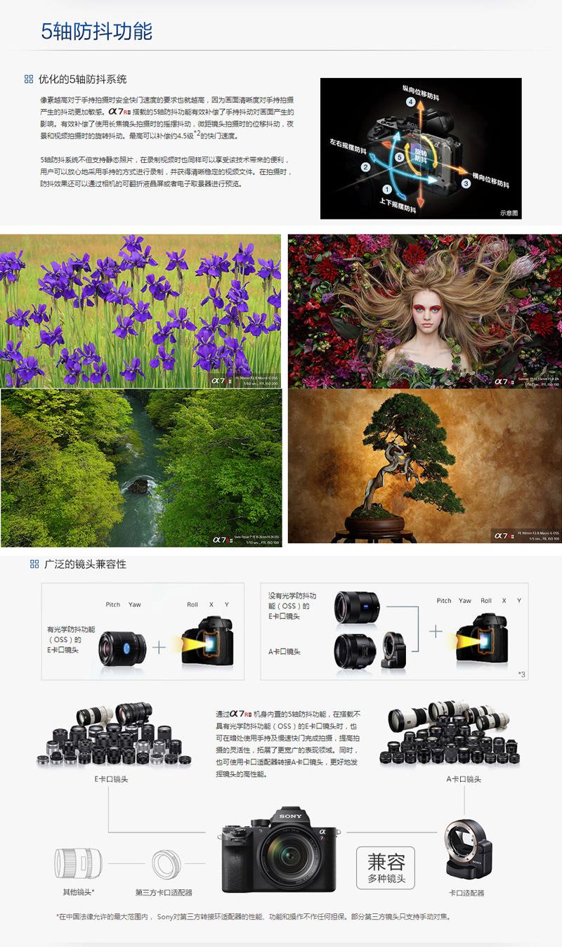 ILCE-7RM2/A7R2 A7RII A7RM2 全画幅微单相机 A7RM2单机身(不含镜头) 官方标配