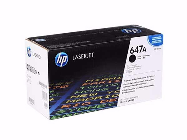 惠普 CE260A 647A原装硒鼓黑色 适用于LaserJet CP4025/CP4525