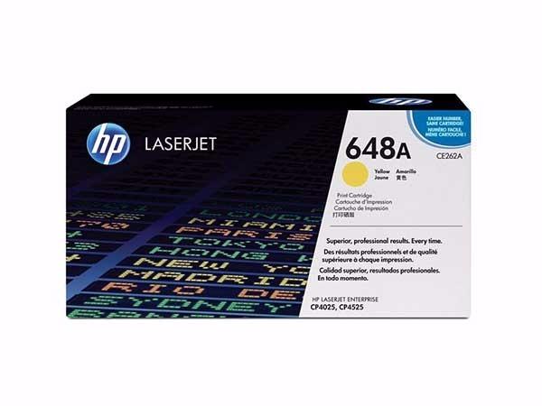 惠普 CE262A 648A原装硒鼓黄色 适用于LaserJet CP4025/CP4525