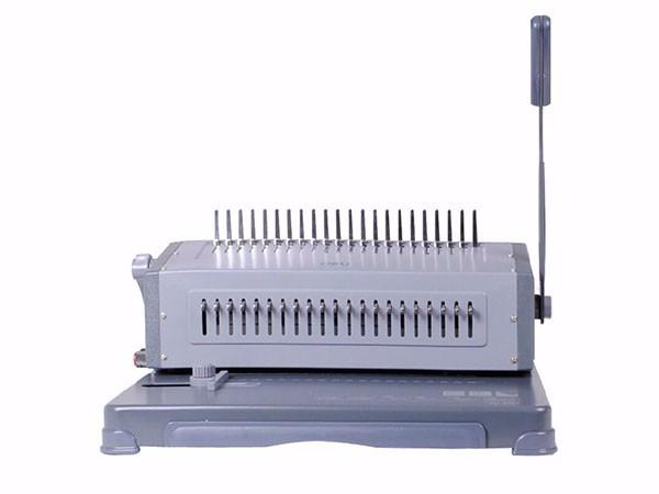 得力 3874 省力胶圈/夹条装订机 21孔可调文件打孔机