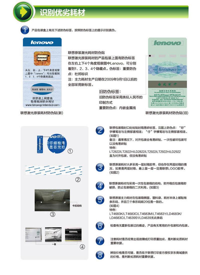 联想 LT2641 原装专用墨粉(适用于LJ2600D LJ2650DN M7600 M7600D M7650DF M7650DNF打印机)