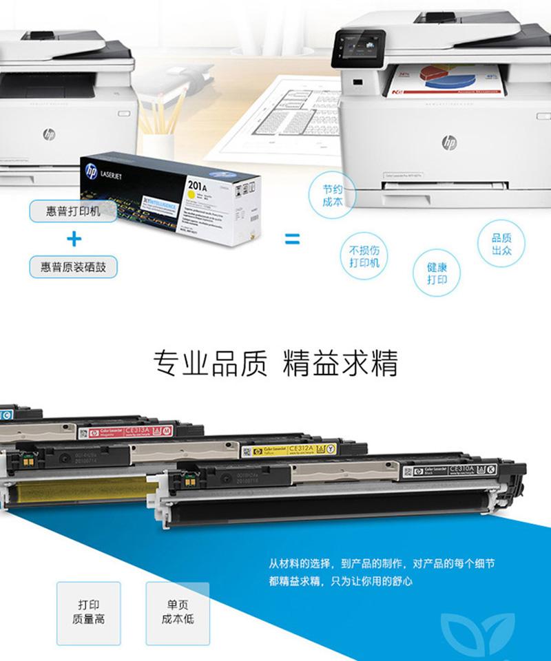 惠普(HP) CF401A 201A 原装硒鼓 (适用于M252N 252DW 277N 277DW)CF401A青色硒鼓 CF400系列