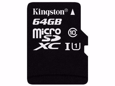 金士顿(Kingston)64GB TF(Micro SD) 存储卡 U1 C10