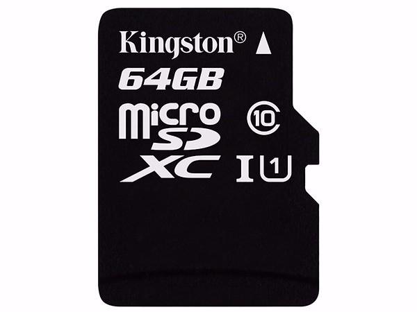 金士顿(Kingston)64GB TF(Micro SD) 存储卡 U1 C10