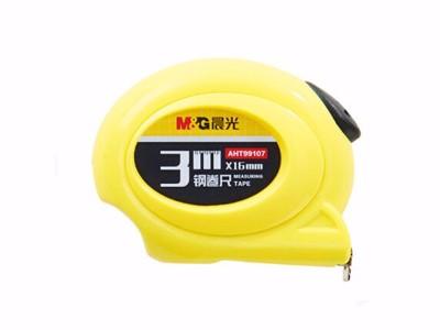 晨光 钢卷尺 抗摔外壳尺子 测量工具 卷尺 多款规格可选 AHT99107 3m