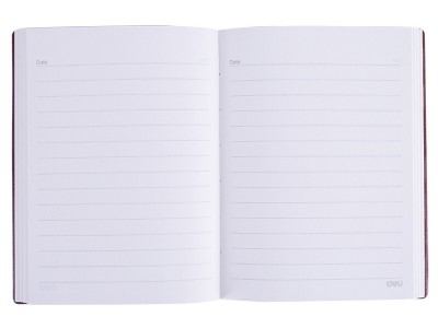 得力22226皮面笔记本-112张-B5(黑)